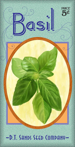 basil seed packet