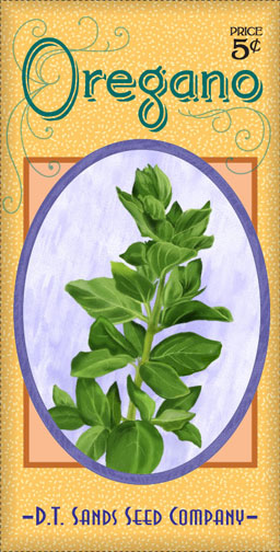 oregano seed packet