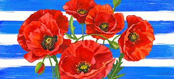 poppies mat